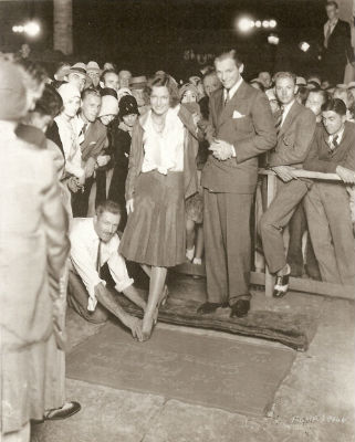 Joan Crawford Douglas Fairbanks Grauman's Chinese Theater